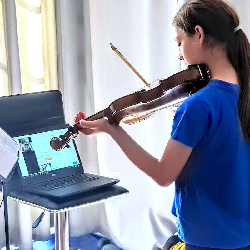 so to my second violin lesson