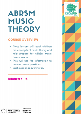 abrsm music theory: grade 1, pt.2 (10-12yo's) - pick your weekly time slot