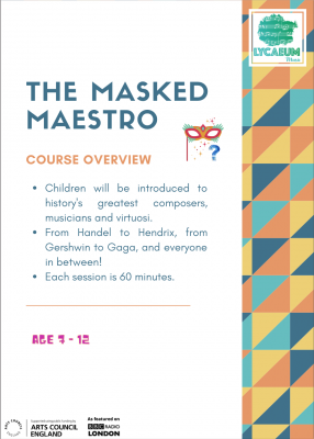 the masked maestro (10-12yo's) - pick your weekly time slot