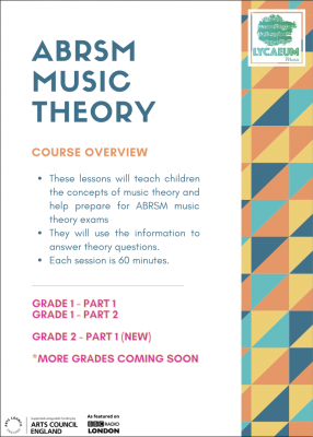 abrsm music theory: grade 1, pt.1 (10-12yo's) - pick your weekly time slot