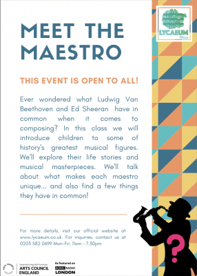 meet the maestro (5-7yo's) - 6-week online course - pick your weekly slot