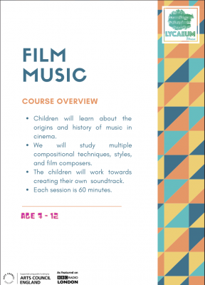 film music (7-9yo's) - 6-week online course - pick your weekly time slot