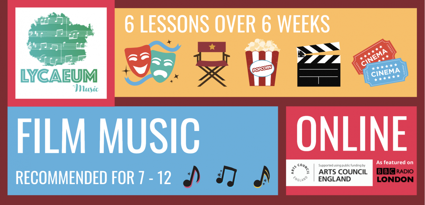 film music (10-12yo's) - 6-week online course - pick your weekly time slot