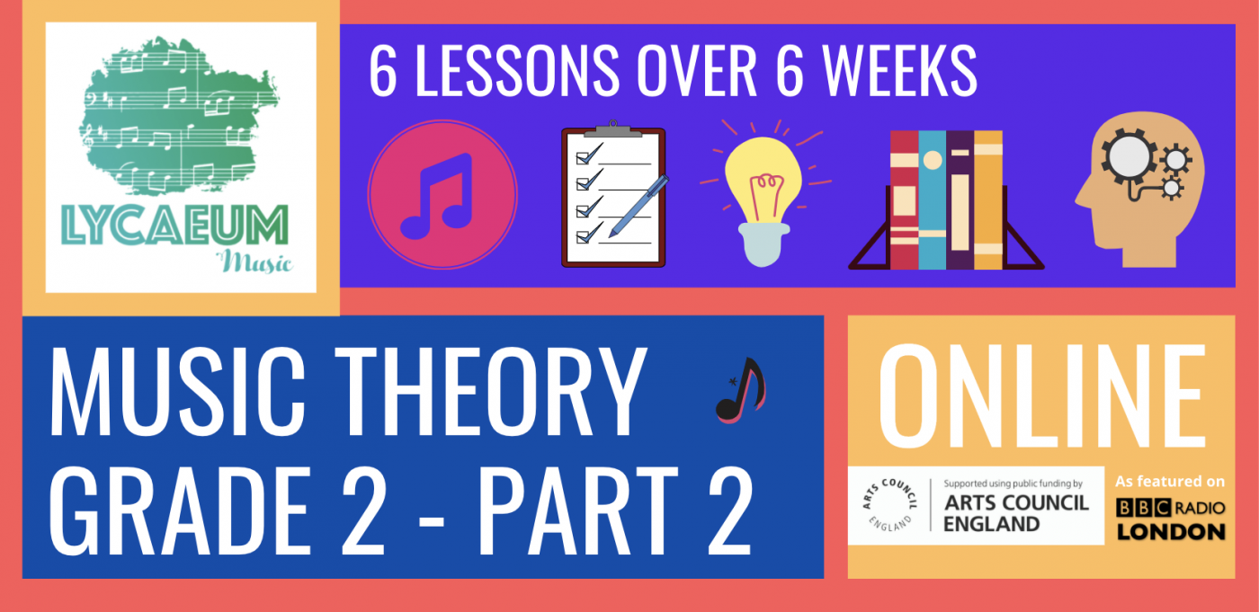 abrsm music theory: grade 2, pt.2 - pick your weekly time slot