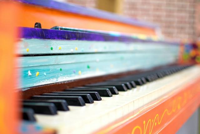 colourful piano