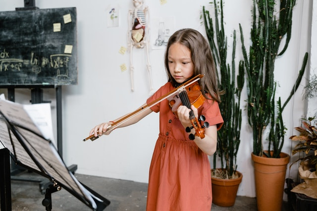 young violin student