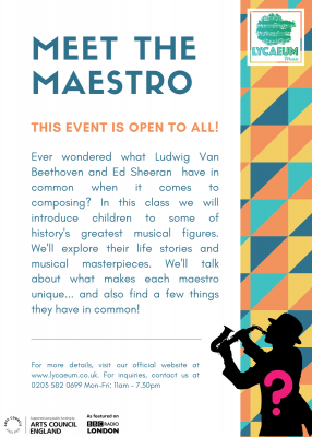 meet the maestro (5 - 7yo) - pick your weekly time slot