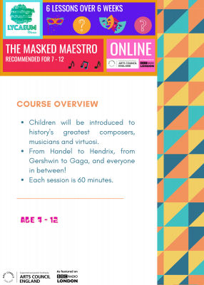 the masked maestro (7 - 9yo) - pick your weekly time slot