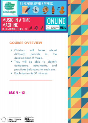 music in a time machine (7 - 9yo) - pick your weekly time slot