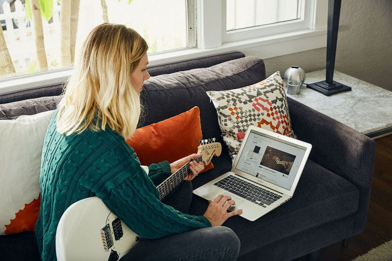 guitar lessons at home or online
