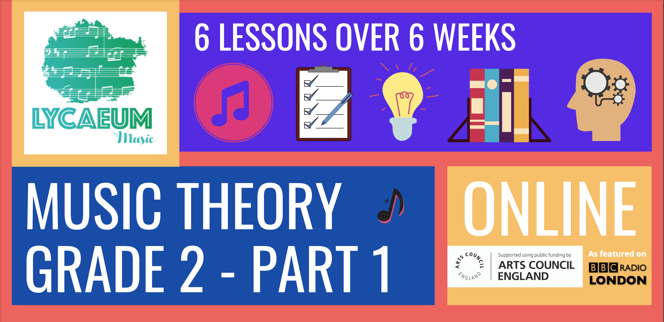 abrsm music theory: grade 2, pt.1 (7-9yo) - pick your weekly time slot