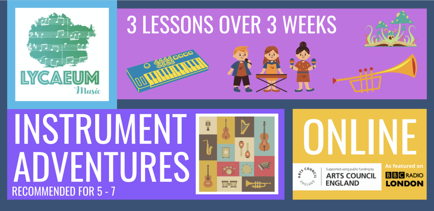 instrument adventures (5 - 7yo) - pick your weekly time slot